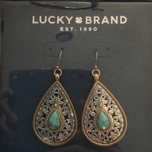 Lucky Brand Turquoise Earrings NIB